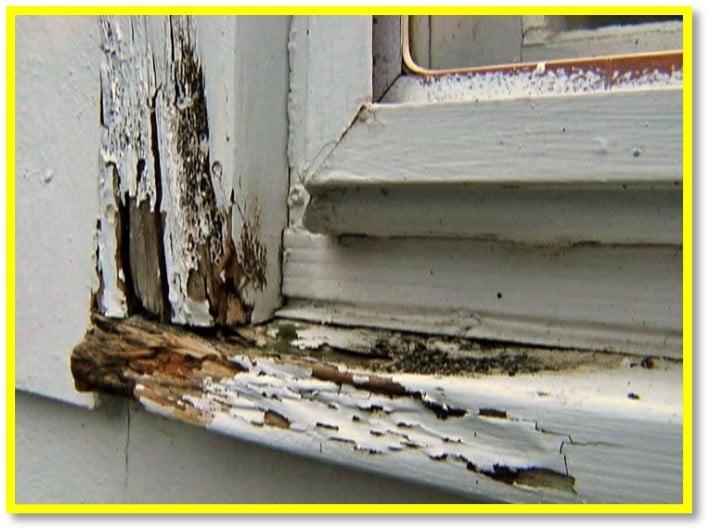 Wood Chipped Window